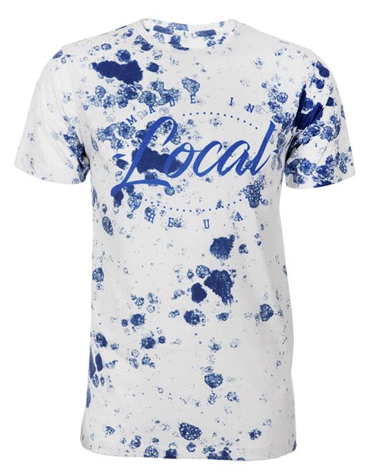 Local Blue Splatter Tee - Men, T-shirts - Local-UAE