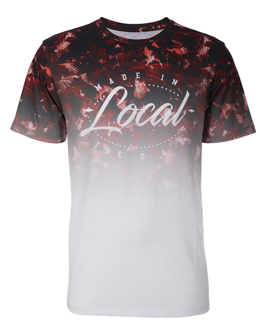 Local Floral Fade Tee - Men, T-shirts - Local-UAE