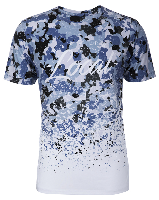 Local Blue Camo Splatter Tee - Men - T-shirt - Local-UAE