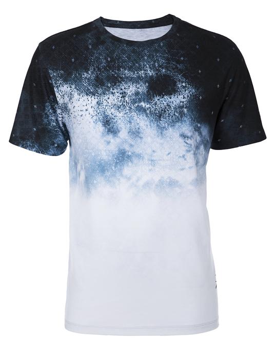 Local Blue Smudge Tee - Men, T-shirts - Local-UAE